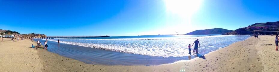 Nice sunny day in malibu beach california