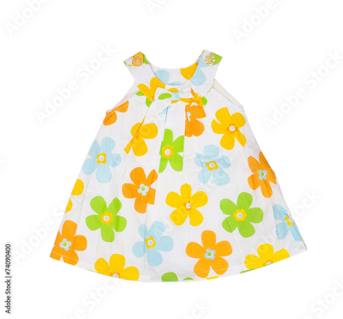 Children's wear. Baby dress on a white background. Isolated - 74090400