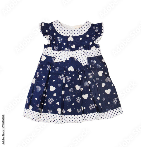 Children's wear. Baby dress on a white background. Isolated - 74090403