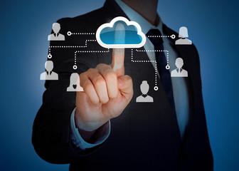 Cloud computing virtual screen