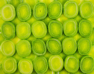 Texture chopped onion leeks
