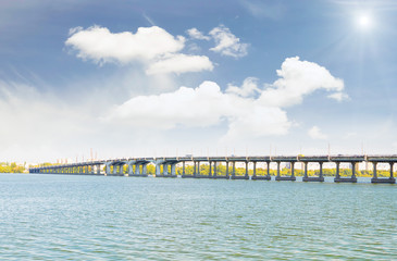 Long bridge over the river