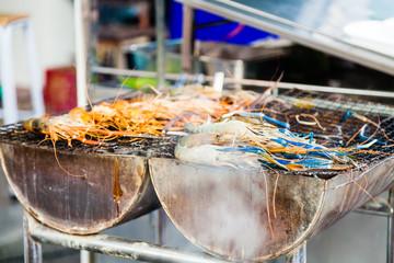 Large shrimp grilled