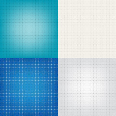 Set technical paper background grid illustration EPS10