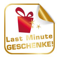 Button / Aufkleber Last Minute Geschenke