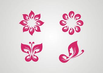 Spa icon set ecology logo vector