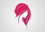 Woman Hair style Silhouette logo vector - 74092220