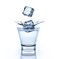 Drink mit 2 Eiswürfeln