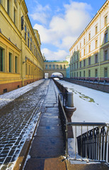Winter Canal in Saint-Petersburg, Russia