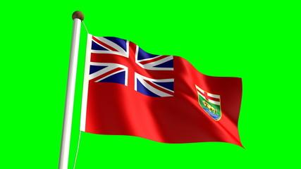 Manitoba flag (seamless & green screen)
