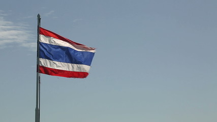 Flag of Thailand blowing in the breeze
