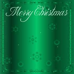 Elegant Green Satin Christmas Wishes Background