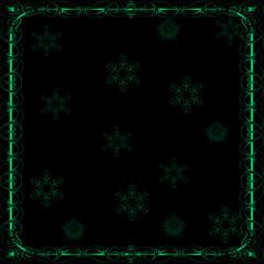 Elegant Dark Green Christmas Snow Flake Background
