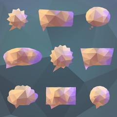 Abstract origami speech bubble vector