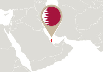 Qatar on World map