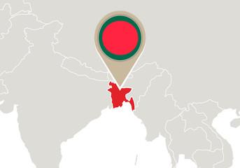 Bangladesh on World map