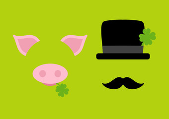 Abstract Pig & Chimney Sweeper Green