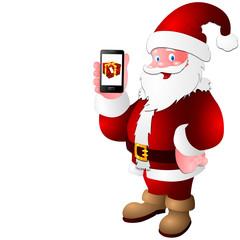 Santa claus smartfon