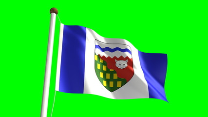 Northwest Territories flag (seamless & green screen)