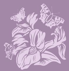 iris floral decor