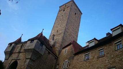 Burgtor und burgturm rothenburg