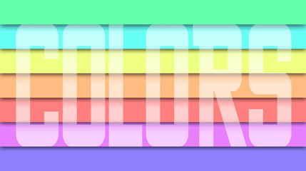 Linee arcobaleno con scritta