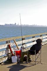 pêcheur à Berkeley