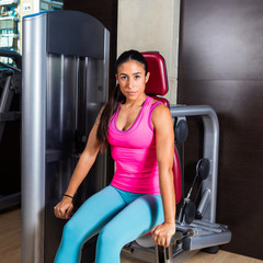 Dips press machine for triceps woman workout