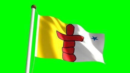 Nunavut flag (seamless & green screen)