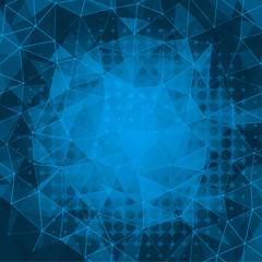 elegant mosaic triangle background - vector illustration