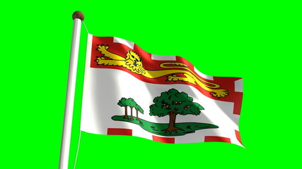 Prince Edward Island flag (seamless & green screen)