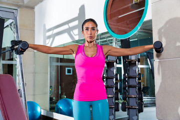 dumbbell lateral shoulder flies fly girl workout