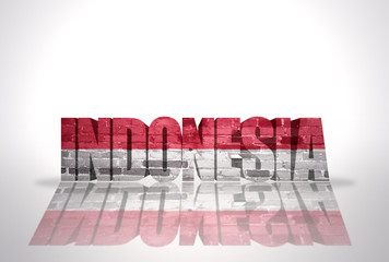 Word Indonesia on the white background