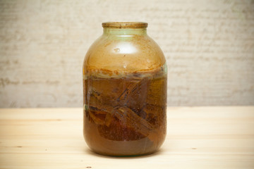 Japanese Kombucha, homemade fermented drink