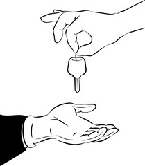 Handing over the key