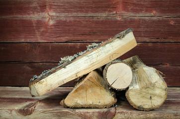Small firewood heap