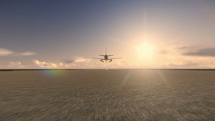 Plane taking off at the airport