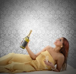 Champagne relax