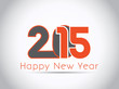 Happy New Year 2015 celebration concept. Creative greeting card