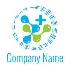 molecule chemistry and bio logo