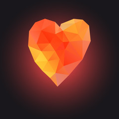symbol of love with heart