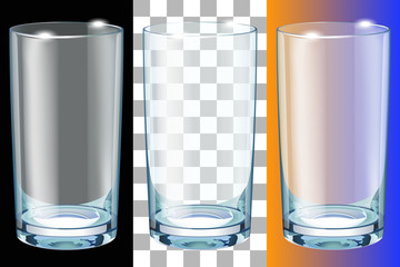 glass on different backgrounds