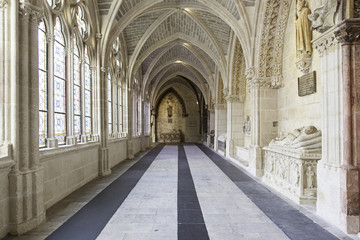 Interior of ancient gothic cathedral