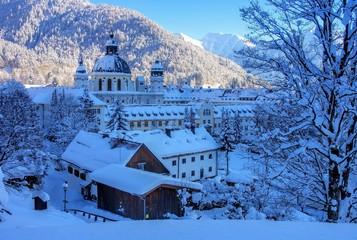 Ettal Kloster Winter - Ettal abbey in winter 02