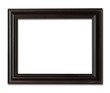 wood frame photo with clipping path. - 74102430
