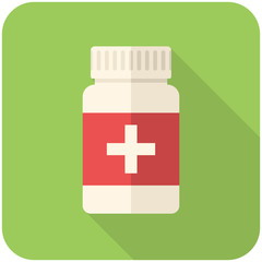 Medical bottle icon