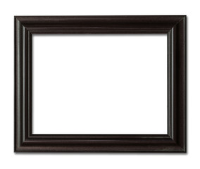 wood frame photo with clipping path.