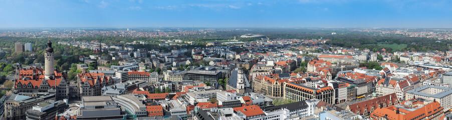 Panorama der Stadt Leipzig von oben