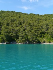 The bay of the Croatian village Polace at the island Mljet
