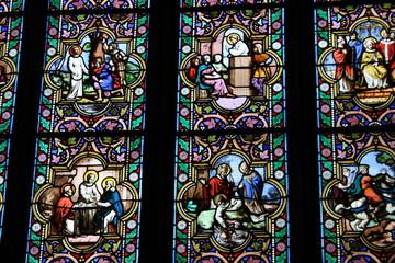 Vitraux Cathédrale Saint-Corentin à Quimper (Finistère)